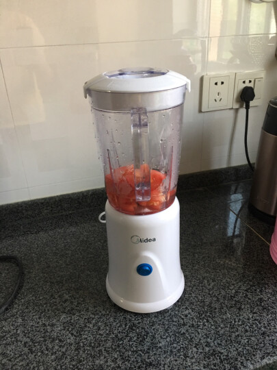 美的(Midea)料理机家用 多功能双杯榨汁机可果汁搅拌研磨辅食WBL25B26(李现推荐) 晒单图
