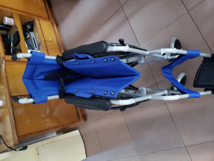 互邦 轮椅老人铝合金折叠轻便残疾人轮椅车 HBL20实心胎 晒单图