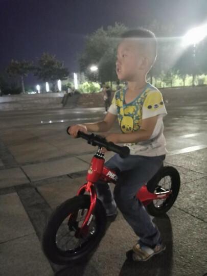 凤凰儿童男女平衡车儿童滑步车2-3-6岁小孩宝宝无脚踏滑行车比赛车 护腕(颜色随机) 晒单图