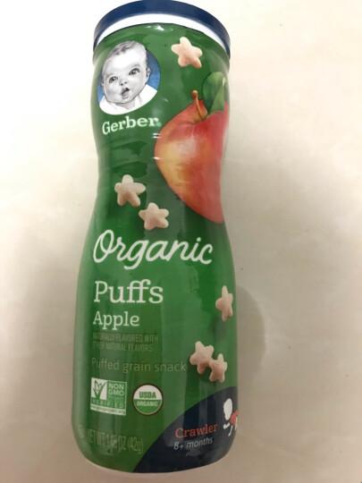 嘉宝Gerber 泡芙宝宝零食 婴幼儿辅食 有机星星泡芙三段 无花果味(8个月以上)42g/罐 美国进口 晒单图