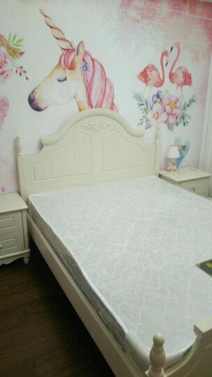 尊范(ZUF)床 实木床 欧式单人床双人床公主床 1.8米1.5米床卧室家具新婚床 床+床头柜+床垫+梳妆台+凳1.06米 1800*2000排骨架 晒单图