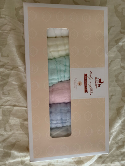 欧孕口水巾棉婴儿小方巾新生儿毛巾洗脸巾儿童手绢手帕 糖果六条装(30X30cm) 晒单图