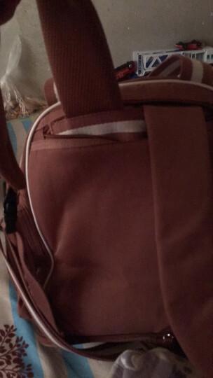三美婴妈咪包双肩多功能大容量妈妈包手提 湘妃粉 晒单图