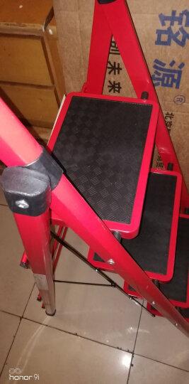 奇晟铭源 家用梯子红色四步梯加宽踏板轻便室内人字折叠梯 LC-108 晒单图