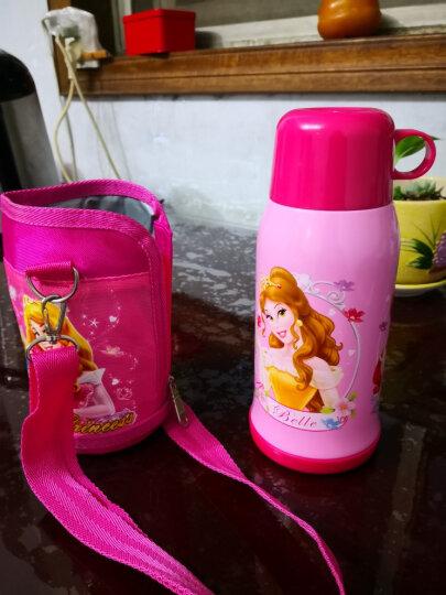 迪士尼(Disney)儿童保温杯保温壶带吸管不锈钢水杯男女学生双盖杯子水壶送杯套 550ML 6002P 公主粉色 晒单图