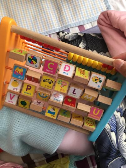 铭塔婴幼儿童益智玩具 1-2-3周岁木制启蒙早教宝宝形状认知 五合一翻板盒装 晒单图