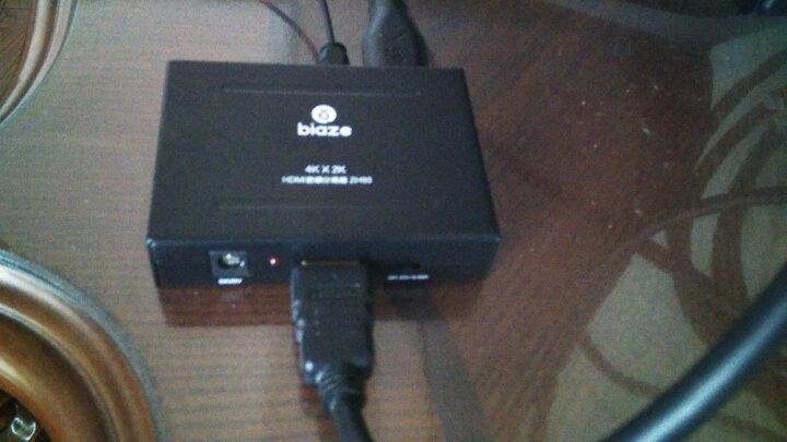 毕亚兹 HDMI转VGA线转换器 高清视频转接头适配器 笔记本电脑盒子机顶盒连接电视显示器投影仪线 ZH62-白 晒单图
