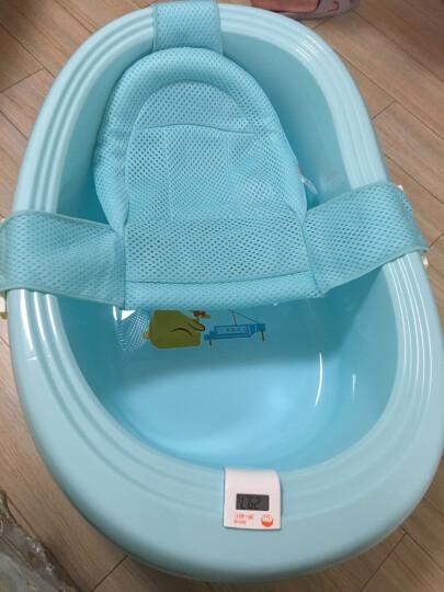 日康(rikang) 浴盆 婴儿洗澡盆婴儿浴盆 新生儿宝宝洗澡盆感温浴盆 坐躺两用 适用0-6岁 浅黄色 RK-X1003-2 晒单图