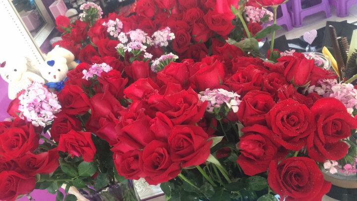 钟爱 生日礼物女生99朵红玫瑰花束鲜花速递全国同城送花北京上海广州武汉成都上门配送订花 99朵戴安娜玫瑰-挚爱 晒单图