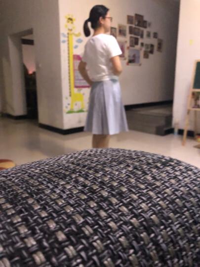 哥弟女装新品高腰及膝伞裙290035 白色 M(3码) 晒单图