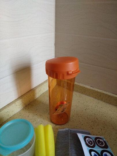 特百惠(Tupperware)茶韵随手杯500ml学生男女运动水杯塑料杯带茶隔防漏大容量大容量茶杯 星光橘花橙500ml 晒单图