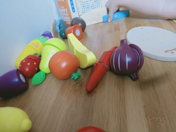 铭塔过家家儿童益智玩具 积木木制婴幼儿宝宝男女孩仿真厨房 1-2-3-6岁蔬菜水果切切乐 晒单图