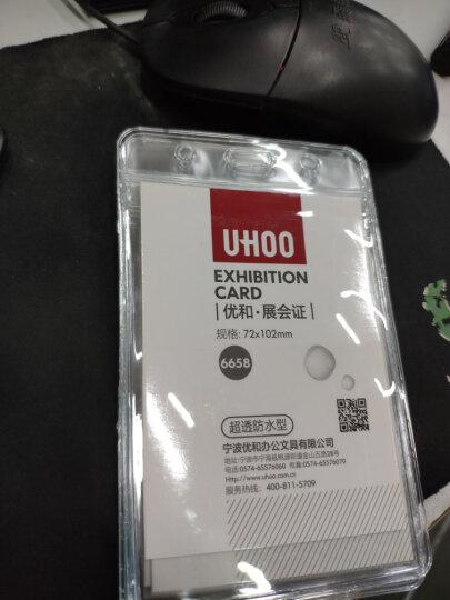 优和(UHOO) 6658 软质PVC展会证 竖式 48个/盒 防水设计 证件卡套 工作证 员工牌 胸卡 晒单图
