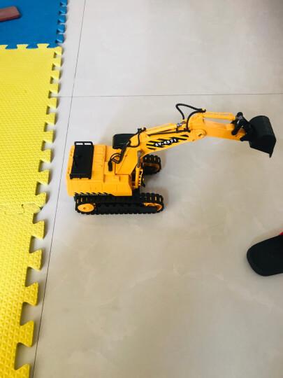 双鹰充电遥控车工程车仿真挖掘机汽车大号儿童电动玩具车 大号手柄版搅拌车1:20 晒单图