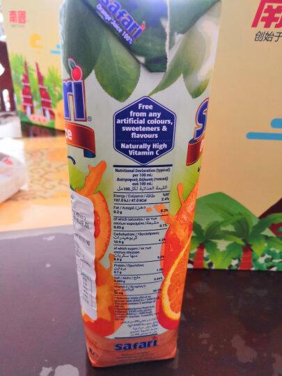 地中海塞浦路斯进口 萨法瑞(safari)橙汁100%纯果汁1L*2瓶+菠萝汁100%纯果汁1L*2瓶礼盒 果汁饮料 整箱礼盒 晒单图
