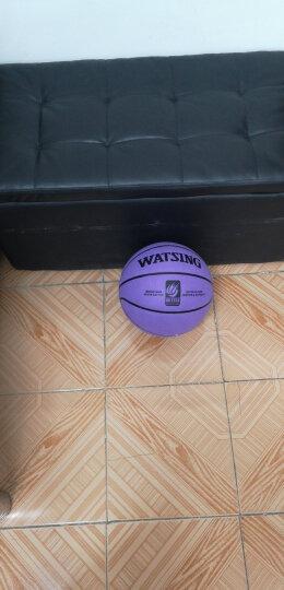 WITESS 篮球番毛软皮加厚真皮手感7号标准比赛篮球室内室外通用蓝球 加厚耐磨星标款-送全套配件 晒单图