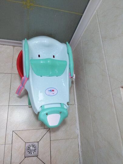 序言(XUYAN) 儿童洗头椅洗头床宝宝洗头躺椅加大加厚 抹茶绿 洗头椅+小象折叠脸盆+洗头刷 晒单图