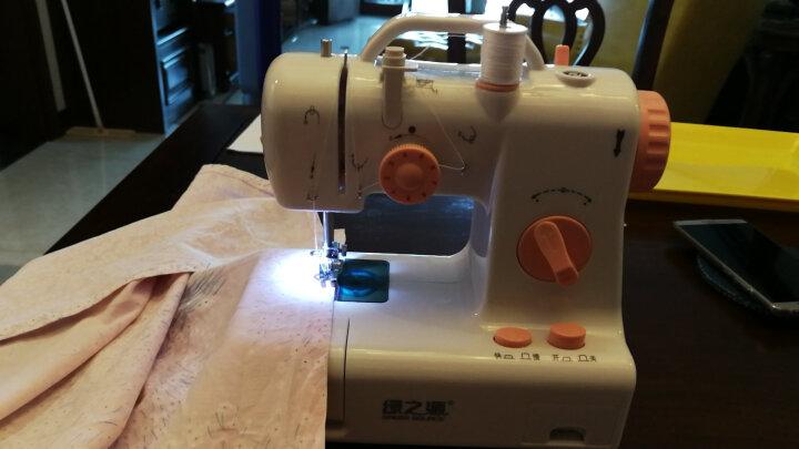 绿之源台式小型多功能缝纫机 迷你家用电动吃厚微型脚踏手工裁缝机 晒单图