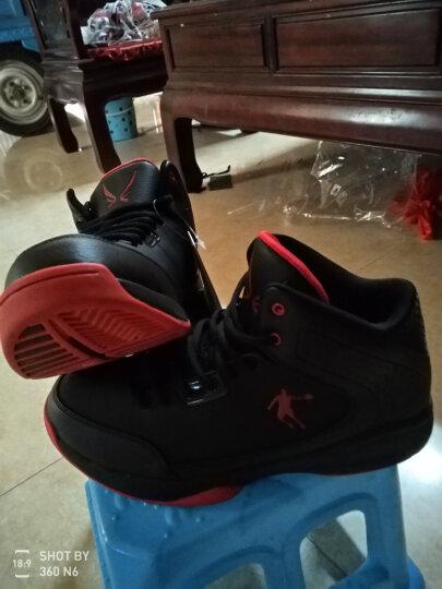 乔丹篮球鞋男鞋新款运动球鞋飞人高帮防滑耐磨战靴 黑灰 40 晒单图