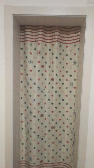 妃洛思窗帘 地中海窗帘免打孔成品短帘短款客厅卧室飘窗遮光窗帘布 米色爱心树-布 宽2x2高一片(送杆0.7-1.2) 晒单图