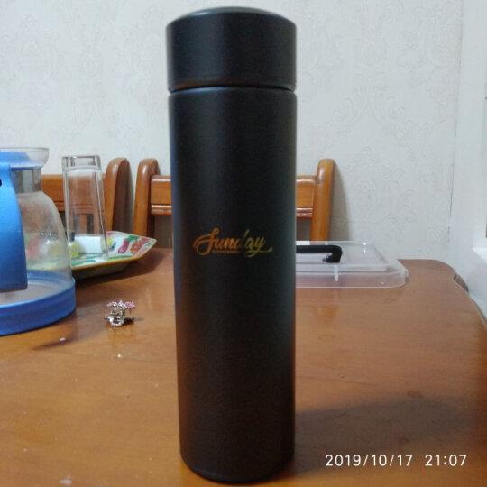 OAK保温杯商务不锈钢真空男女士水杯子450ml 紫砂红 OX-8017 晒单图