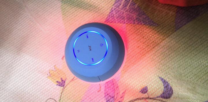 索爱(soaiy) S-45 七彩灯蓝牙音箱 迷你低音炮炫彩灯电脑小音响 户外便携手机智能插卡播放器 车载 天空蓝 晒单图