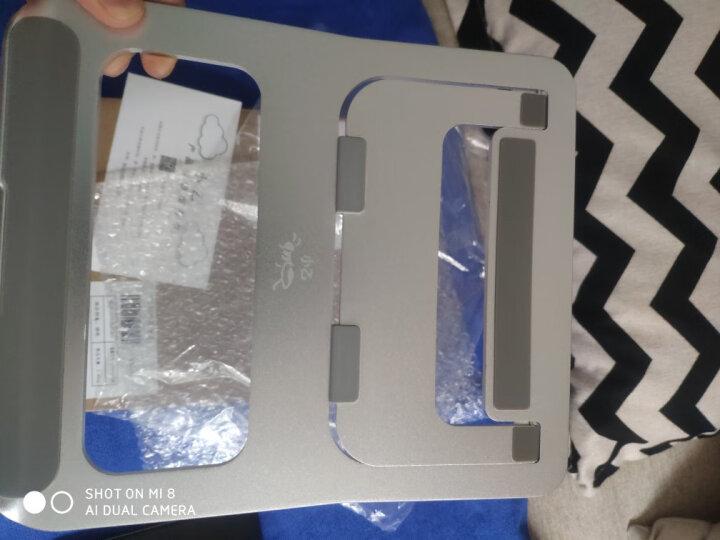 小乙 笔记本支架 笔记本散热器 折叠便携升降铝合金电脑支架 置物架增高架 散热架 配件显示器支架AF23银色 晒单图