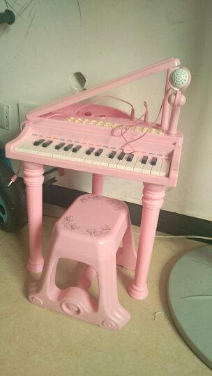 儿童电子琴音乐玩具女孩小钢琴带麦克风早教益智初学者2-6岁启蒙入门教程乐谱宝丽玩具 经济版1504D粉(赠送充电池套装) 晒单图