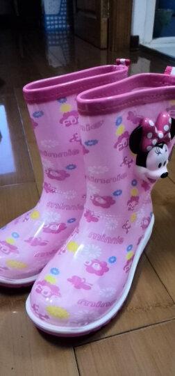 迪士尼米奇男女儿童雨鞋防滑中筒防水鞋学生雨靴 MP16152宝蓝 32码/鞋垫长20.9cm-适合33/34码 晒单图
