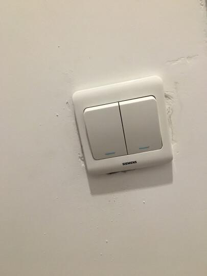 西门子(SIEMENS)开关插座 二开双控带荧光面板 86型暗装面板 远景雅白色 晒单图
