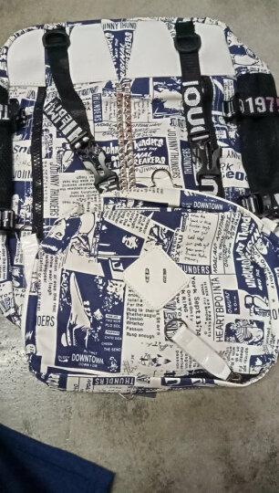 帆特西 学生书包男韩版 潮流时尚休闲双肩背包 15.6英寸笔记本电脑包 V9036 报纸印花色 晒单图