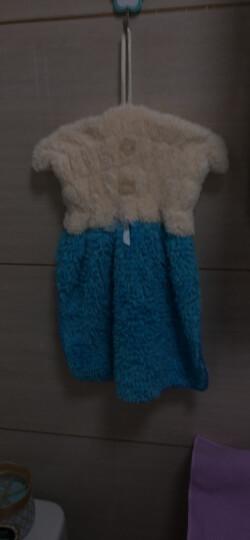 多样屋TAYOHYA挂式擦手吸水快干厨房浴室居家多用裙式雪绒擦手巾 蓝色 晒单图