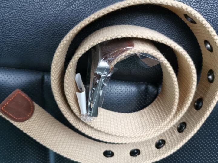 极为(JEVI)帆布腰带男士帆布皮带男休闲裤带韩版学生针扣男士加长皮带JWYD-3183 晒单图