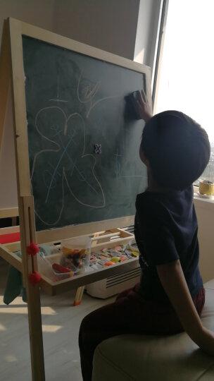 七巧板黑板画板儿童画架小黑板 可升降双面磁性画画板绘画套装支架式写字板白板 147cm可升降画板+送价值48元大礼包 晒单图