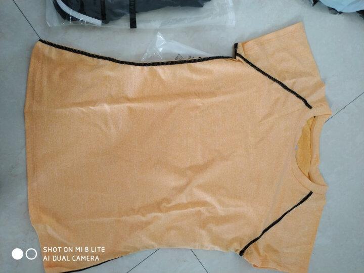 【送文胸】瑜伽服女春夏新款时尚二三件套装锦纶修身显瘦速干舞蹈健身服 A8001黄色+B6001黑白(三件套) M 晒单图