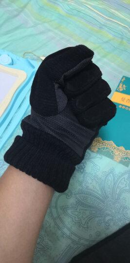 真皮手套男士保暖加厚棉加绒手套 冬季防风防寒骑车防滑皮手套 MCS23003 真皮加绒黑色 均码 晒单图