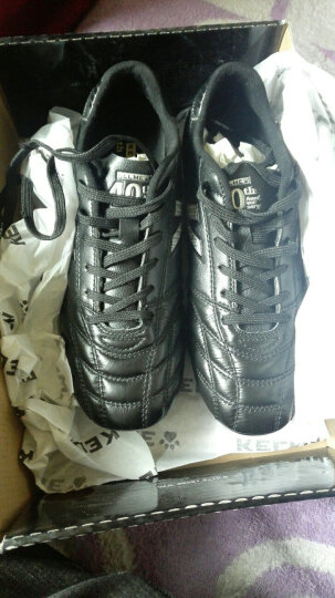 KELME卡尔美足球鞋袋鼠皮AG短钉鞋K91 黑色 39 晒单图