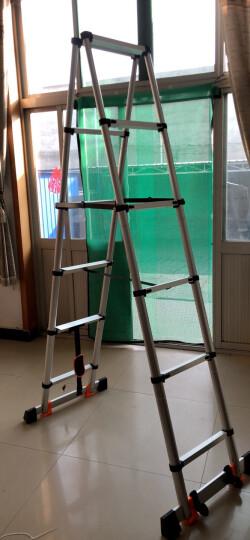 巴芬德国品质伸缩梯子家用人字梯加厚多功能铝合金便携升降工程折叠楼梯 【加强升级无痕款】单面直梯5.5米【靠墙使用】 晒单图
