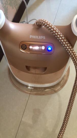 飞利浦 (PHILIPS) 蒸汽挂烫机 家用 双杆带烫衣板 2200W五档调节熨衣 GC617/68 晒单图