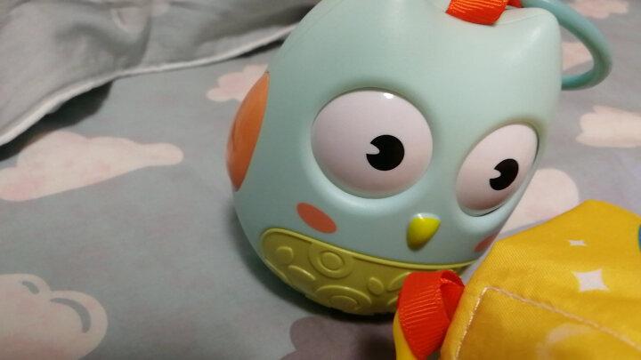 澳乐不倒翁玩具 宝宝早教启蒙玩具 点头不倒娃娃婴儿音乐益智玩具 婴儿玩具0-1岁 不倒翁蓝色+爱心抱枕 晒单图