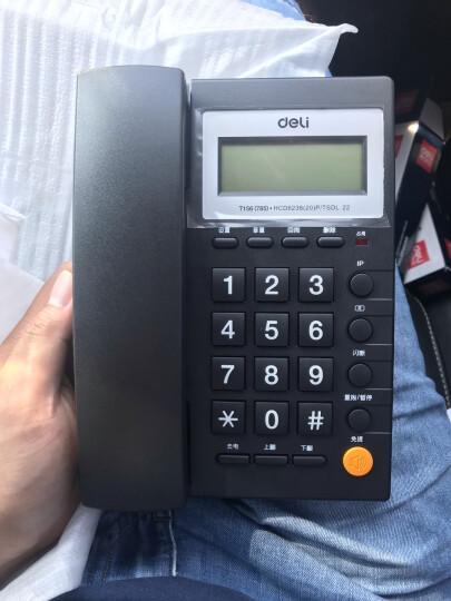 得力(deli)电话机座机 固定电话 办公家用  免提通话 可接分机 785黑 一年质保 晒单图