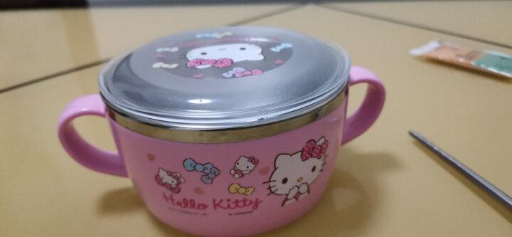 乐扣乐扣(lock&lock) 韩国进口Hello Kitty儿童卡通不锈钢隔热餐具五件套装 粉色(勺+碗) LKT473S5 晒单图