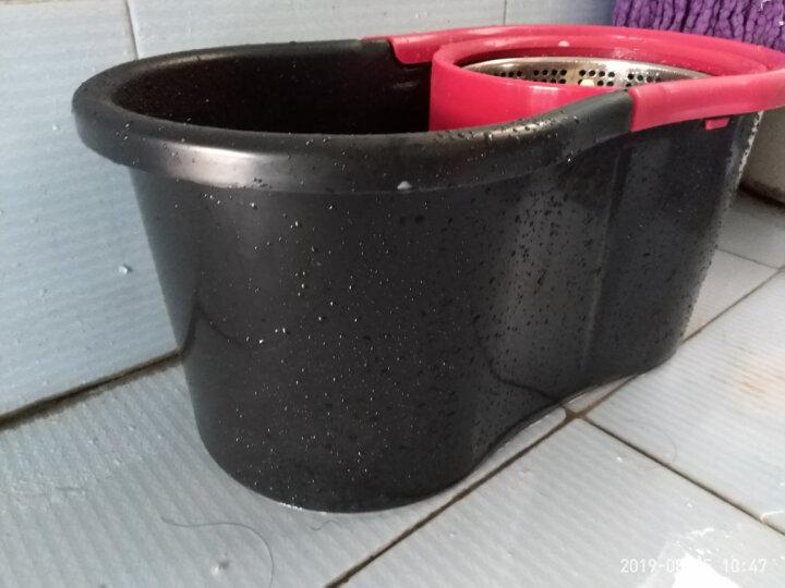 家杰 旋转拖把桶拖布双驱动好神拖懒人免手洗墩布家用吸水地拖8字桶 JJ-A6 晒单图