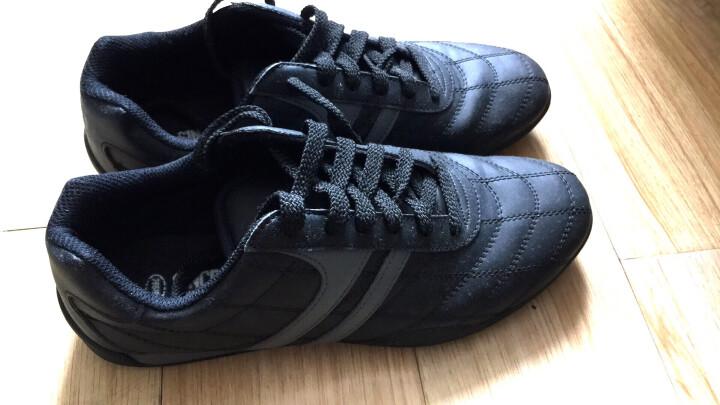 双星足球鞋男女成人儿童足球鞋碎钉 9011 黑灰 42 晒单图