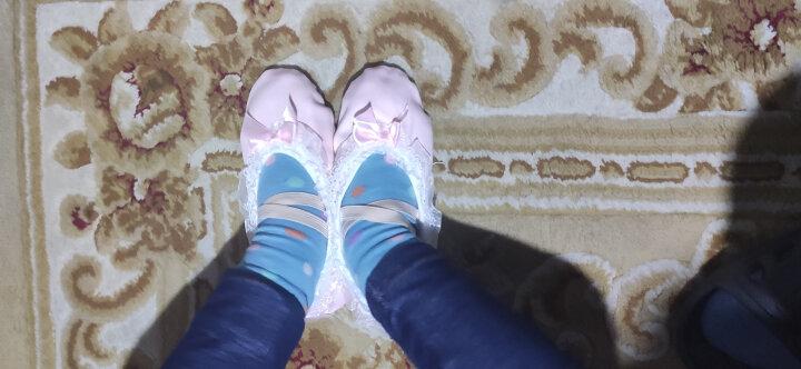 儿童舞蹈鞋女芭蕾舞鞋花边蝴蝶结软底练功鞋女童猫爪鞋表演跳舞鞋 13 粉红色 28/内长18 晒单图