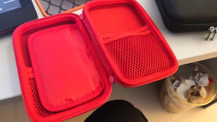 移动硬盘包2.5寸耳机包手机充电器u盘保护套u盾数据线电源充电宝数码收纳包盒防震便携 红色 晒单图