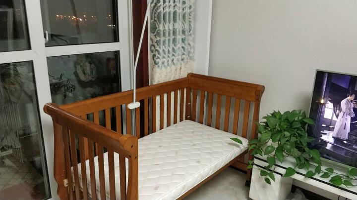 贝乐堡 维多利亚的秘密多功能实木婴儿床 可拼接 宝宝床游戏床 可加长加大变大人床 儿童床 有脚轮 胡桃色 内径130*70 晒单图
