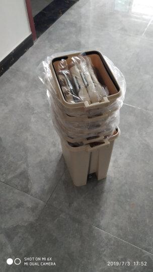 飞达三和 垃圾桶脚踏带盖家用分类大号塑料桶垃圾袋厨房卫生间厕所手按垃圾篓 家庭组合装【混搭方形4件套】 晒单图