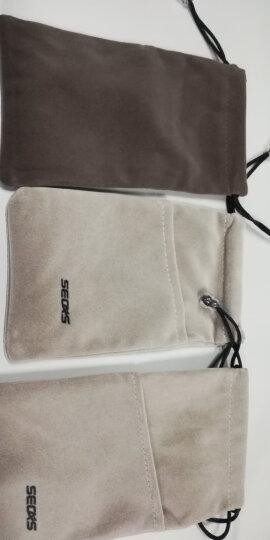 色格(SECAS)手机袋子布袋 充电宝保护套收纳袋小米罗马仕移动电源硬盘耳机便携束口绒布袋 小号(棕灰) 晒单图