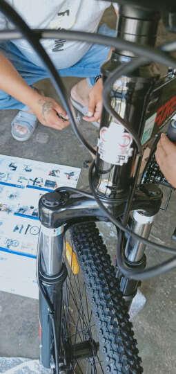 永久24速自行车前后减震折叠山地车双碟刹男女士休闲车学生变速单车软尾越野车 F18 白蓝色 晒单图